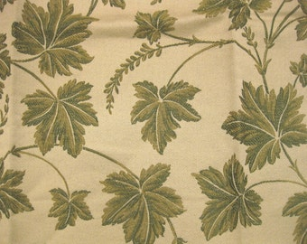 Highland Court Spring Leaf Vine Tapestry Designer Fabric Sample