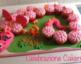 Dragon edible fondant cupcake topper
