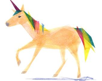 Inez Unicorn - Unicorn Art Print, Unicorn Decor, Animal Art
