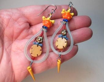 Hoopie Helecopter Earrings by Patti Cahill