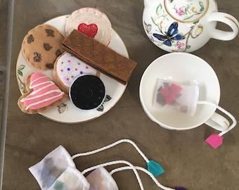 Pretend Play Tea Party Felt Cookies Pretend Food | Felt Story | Pretend Play