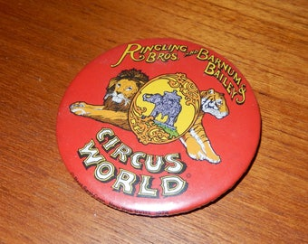 Vintage RARE Ringling Bros. and Barnum & Bailey Circus World Button or Pin from 1978