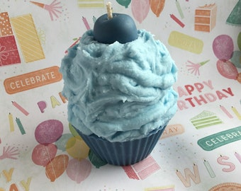 Blueberry Blast, Cupcake Candle, Bakery Scents, Cake Candle, Soy Wax Candle, Dessert Candle, Ice Cream Candle, Fruit Scents, Iced Cupcake