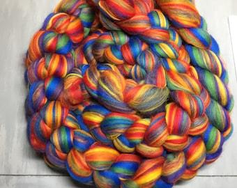 Rainbow Multi Colored Merino Wool Roving