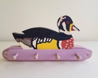 4-Peg Wooden Duck Rack