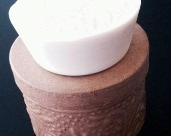 Gardenia Scent Goats Milk Soap, Ready to Ship, White Dye Free Soap