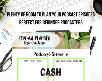 Daily Podcast Planner | Printable Podcast Planner | Instant Download