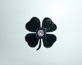 Four leaf Clover, Irish gift, Good luck magnet, Locker magnet, Memo magnet, Green Clover, Fighting Irish, Teacher gift, OOAK magnet