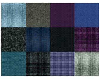 Twilight, Woolies Flannel - 12 fat quarters