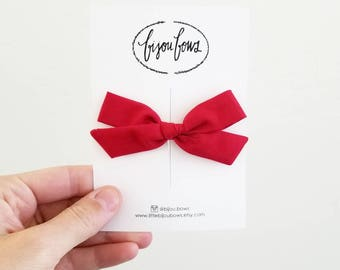 Red Bow on Clip/HB
