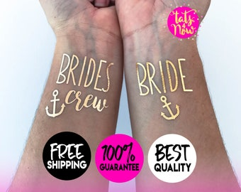 Brides crew // last sail before the veil // lets get nauti themed bachelorette party tattoos // OVER 2000 REVIEWS, Handpacked w/ LOVE