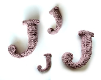 Letter J Crochet Pattern, 3D Alphabet crochet pattern, 3d words pattern, 3d letters pattern, words home deco, decorative letters crochet