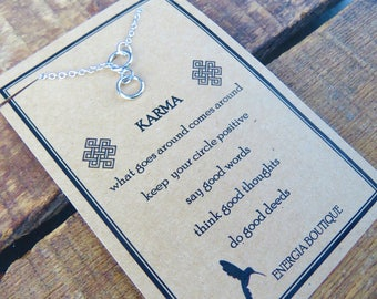 Karma Double Circle Lariat Necklace