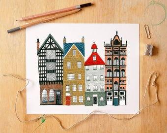 Brick Buildings - Fine Art Giclée Archival Print