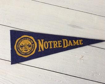 Vintage Notre Dame pennant, university