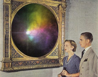 "Collage Art, Surreal Art, Archival Print, Home Decor - ""Portal"""