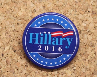 """2.25"""" Hillary Clinton for President 2016 Pinback Buttons Style 10"""