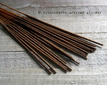 PATCHOULI AMBER Signature Old European Premium Master Crafted Hand Rolled Stick Incense w/ Amber, Patchouli Pogostemon Essential Oil & Herb