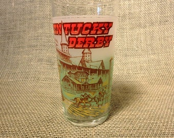 1978 Kentucky Derby Glass Souvenir - Churchill Downs - Horse Racing - Julep Glass - Excellent Condition
