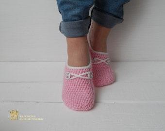 WOMAN SLIPPER SOCKS /Crochet Slippers