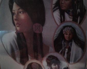 Vintage 1970's Native American Print/ Indian Princess
