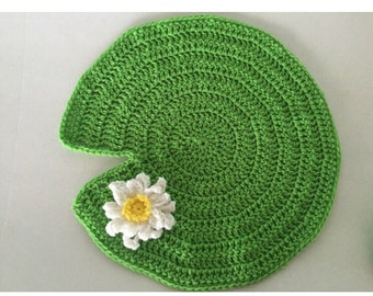 Lily Pad Photo Prop, Lily Pad, Crochet Lily pad, Crochet Prop, Photo Prop, Newborn Photo Prop