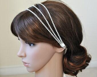 Wedding headpiece, headband, KELLY, Rhinestone Headband, Wedding Headband, Bridal Headband, Bridal Headpiece, Rhinestone