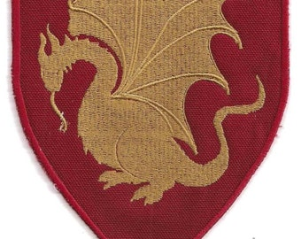 Pendragon heraldry patch