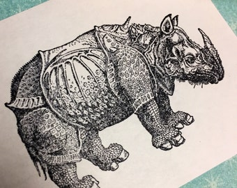 Durer Rhino Rubber Stamps