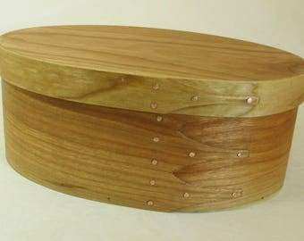 """Handcrafted Shaker Storage Container - Cherry Bentwood Box - SBS121704 - Approx. 10""""x7""""x4"""" (25x17x10cm) - Free Shipping"""
