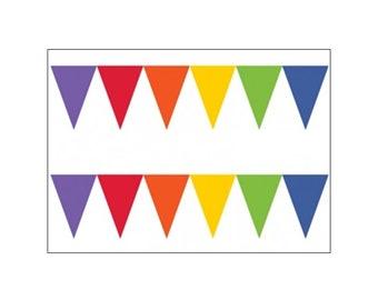 Rainbow Flag Banner, party decoration, wedding banner, party supplies, party banner, celebration banner, UK seller, rainbow banner, Pride