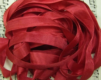 Tuscan Red Seam Binding Silky Rayon Seam Binding Ribbon - 9 yards PSS 0505