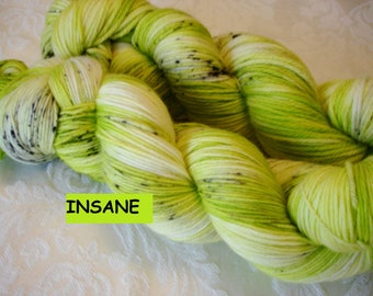 PICK YOUR BASE,All new bases added, Variegated,  Sprinkled, Hand Dyed, Color -  Insane