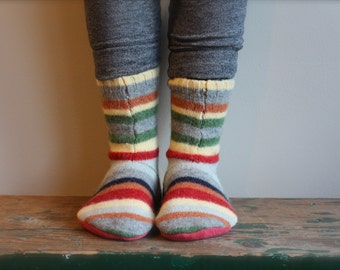 Children's Wool Slippers, Childs Slippers, Boys Slippers, Girls Slippers,Toddler Slippers