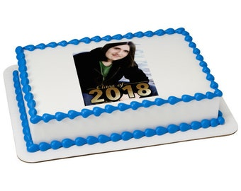 Class of 2018 Picture Frame Edible Cake Topper