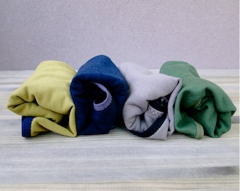 Organic cotton hipster panties - pack of 4 - pick your color and trim