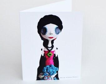 Day of the Dead Art - Blank Note Cards - Dia de los Muertos