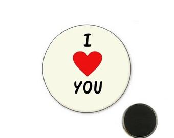 Magnet i love you 25 mm