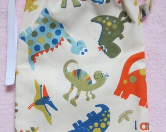 "Bag for marbles or secrets ""Dinosaurs"""
