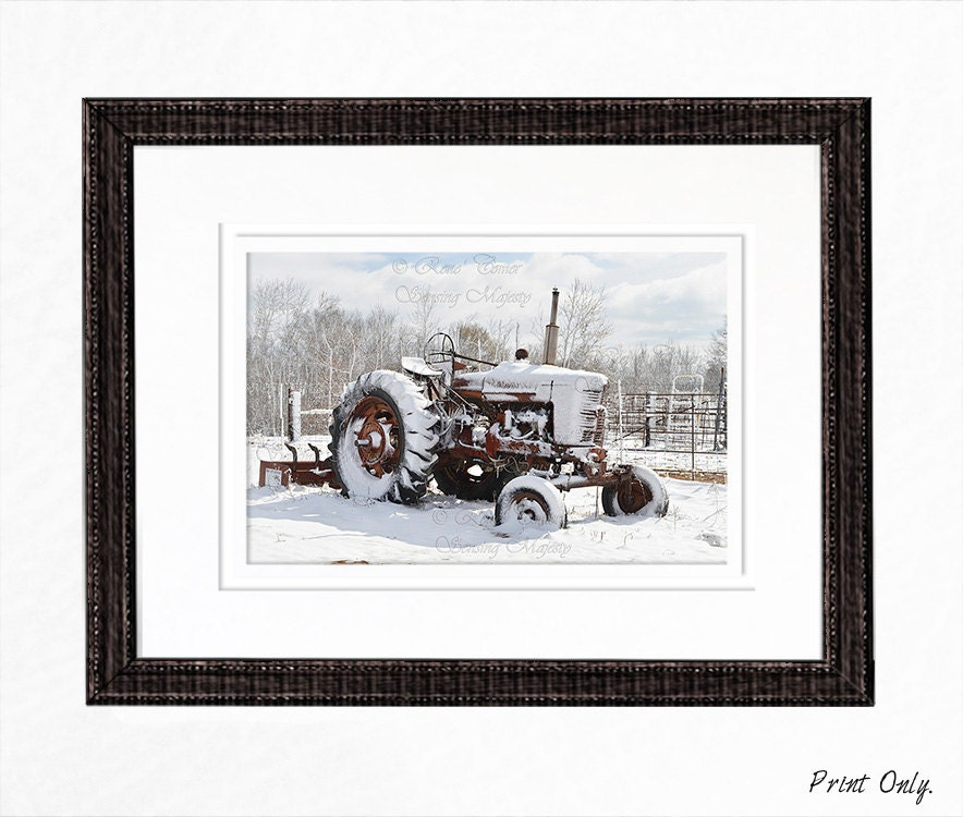 Antique Tractor Wall Art Prints Photos For Cards Country