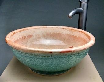 Custom Handmade Pottery Vessel Sink, Designed for your Bathroom Remodeling- Made To Order