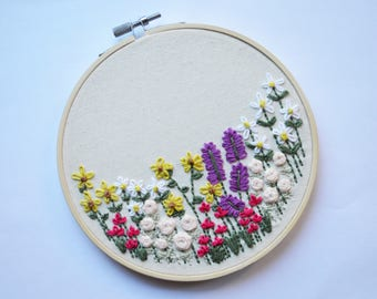 Floral Embroidered Hoop Art