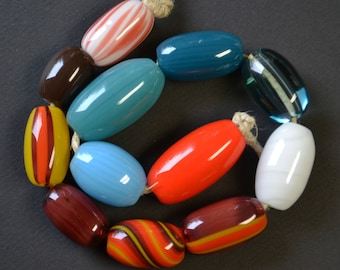 Handblown Glass Color Beads - Wholesale - Variety 12 pack