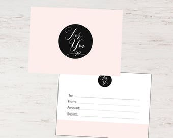 Photography Gift Certificate Template, Blush pink Gift Certificate, PSD Gift Certificate, Instant download 001