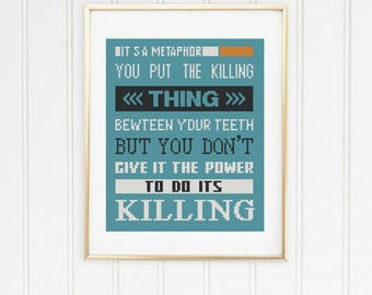 Fault in our stars  stitch pattern its a metaphor  cross your side and mine maybe our okay john green quotes daughter gift/#12-007