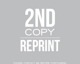 REPRINT : Reprint your previous design - 2nd Copy