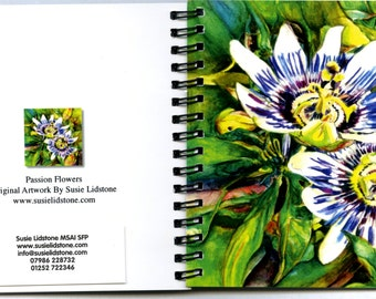 Passion Flowers Square Notebook