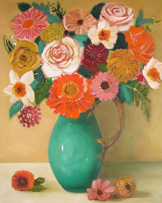 Wheat Roses. Art Print