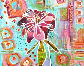 CONTEMPORARY Peony Flower Fine Art giclee print