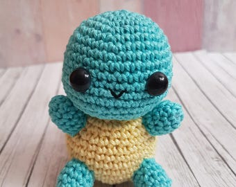 Pokemon Amigurumi Schiggy Squirtel Amigurumi versandfertig / ready to ship